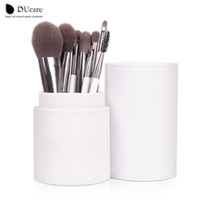 New Arrival Makeup Brushes professional Cosmetics brush Set 8pcs High Quality top Synthetic Hair With White Cylinder brush set(China (Mainland))