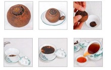 8pcs orange puerh tea puer 2005 year ripe pu erh tea orange fragrance old puer tea
