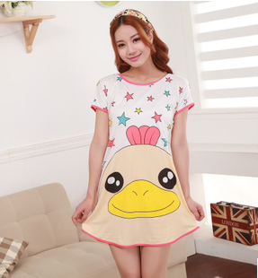 2015 summer style Hot Sale Great Cute Women s Cartoon Polka Dot Sleepwear Pajamas Short Sleeve