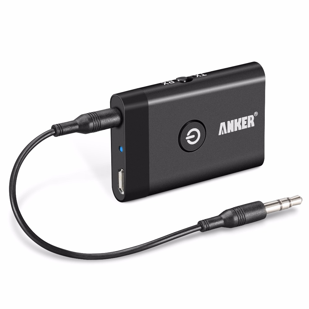 anker 2 in 1 bluetooth audio transmitter receiver bluetooth car kit wireless audio. Black Bedroom Furniture Sets. Home Design Ideas