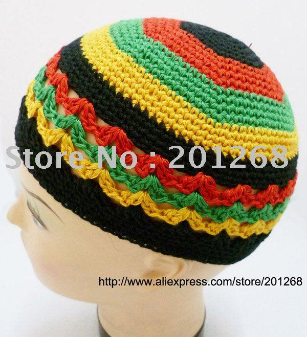 Knitting Pattern Rastafarian Beanie : Aliexpress.com : Buy CROCHET Rasta Reggae BEANIE SKULL CAP KUFI KNIT HAT from...