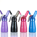 Free Shipping 1 2 pt 0 25L Colorful Whipped Cream Dispenser Professional Aluminum Cream Whipper with