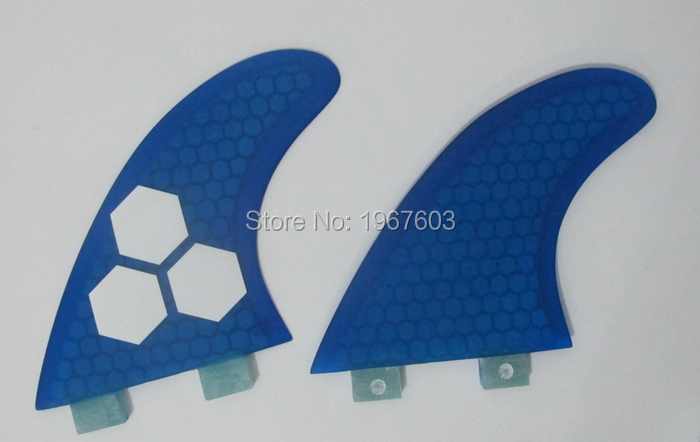 2016 Surf Fin FCS G5 2 piece set for surfboard, SUP board Blue water sport(China (Mainland))