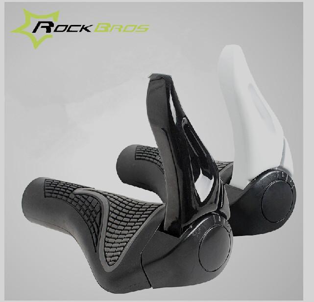 Bicycle Bike MTB Components Bar ends Handlebars Rubber Grips & Aluminum Barend Handle bar Ergonomic Push On Soft Grips, 2 Colors(China (Mainland))