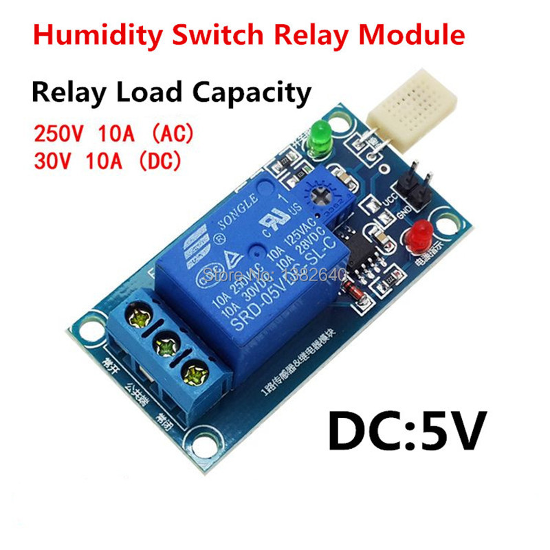 High quality v humidity relay switch low level trigger