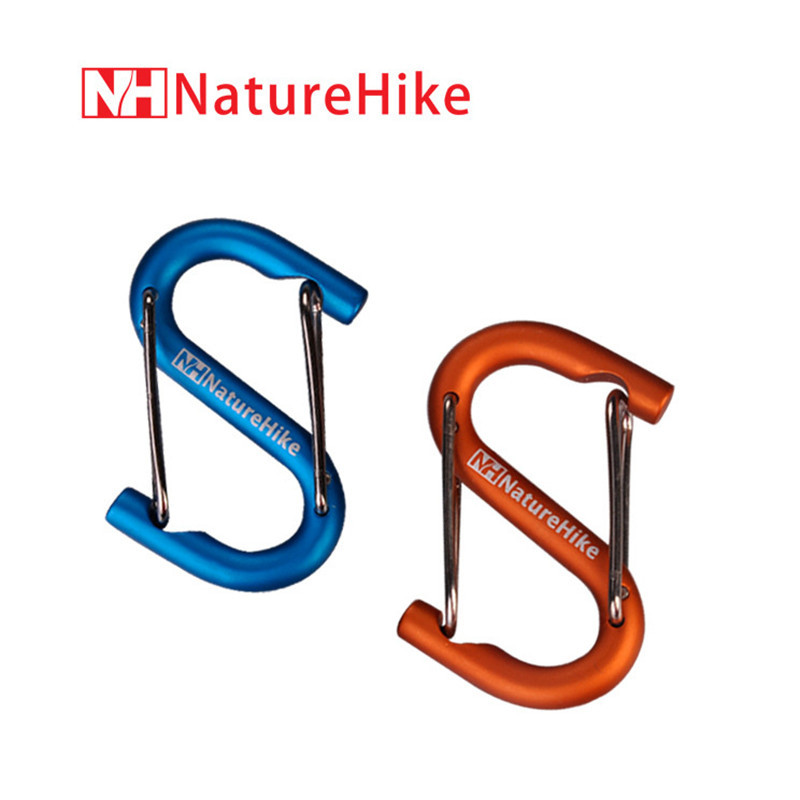 Naturehike  Aluminum Alloy S Shape Mountaineering Buckle Climbing Carabiner Fast Hang Bottle Buckle for Outdoor Camping hiking<br><br>Aliexpress