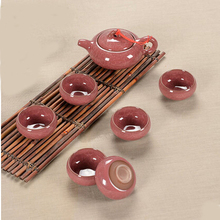 Tea set seven sets (Red), Kung Fu tea wholesale The highest sales of tea set.The most creative Coffee cup