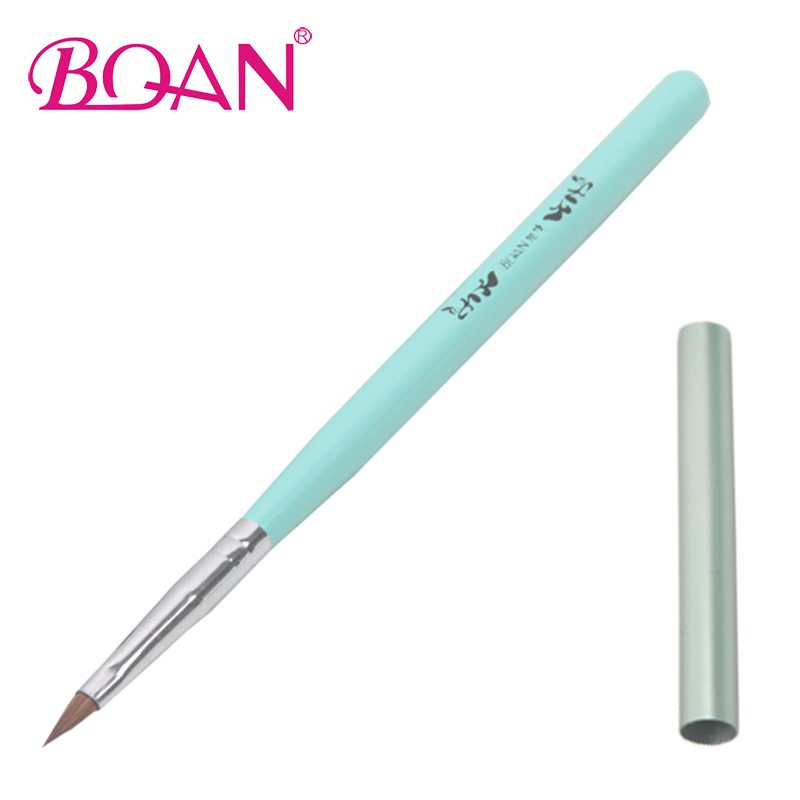 BQAN Professional Wood Handle Nail Brush 4# Sculpture Nail Brush Acrylic Nail Brush Kolinsky Sable Brushes(China (Mainland))