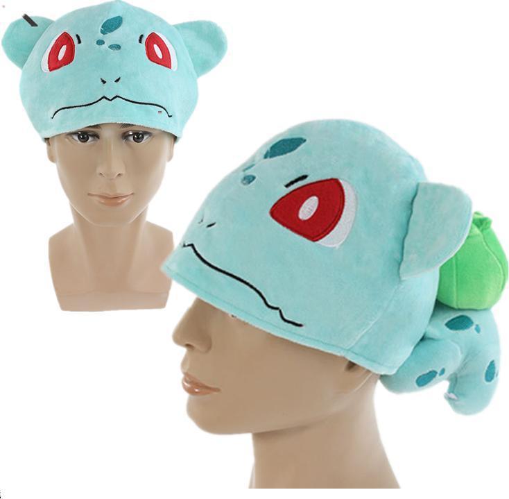 Pokemon Bulbasaur Cosplay Cap Children Warm Plush Bulbasaur Hat Gift for Christmas Retail 1PCSОдежда и ак�е��уары<br><br><br>Aliexpress