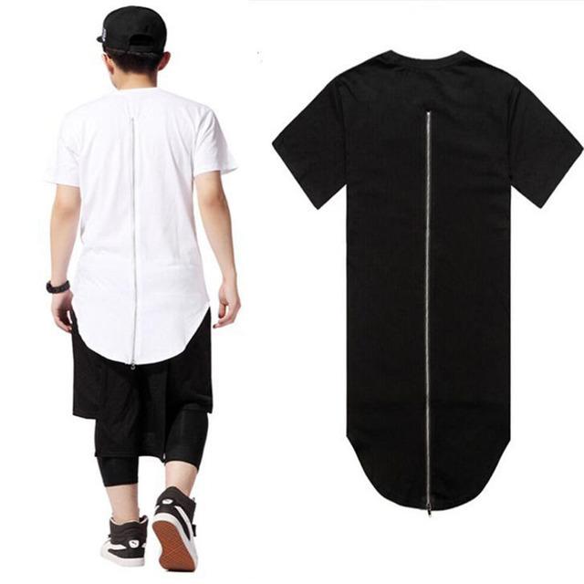 Alta Calidad de Los Hombres XXL Ropa Larga Espalda Cremallera Streetwear Hombre Swag Hip Hop Monopatín