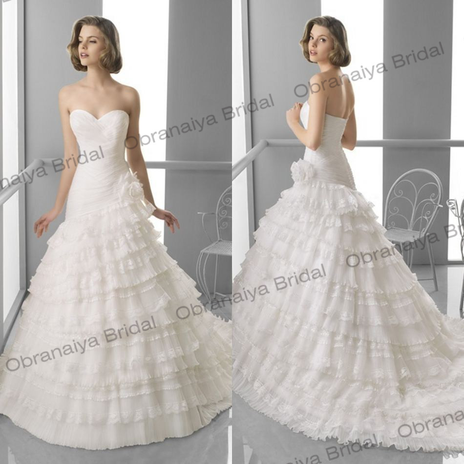 Mother daughter dresses robe de mariage sweetheart tiered for Mother daughter dresses for weddings