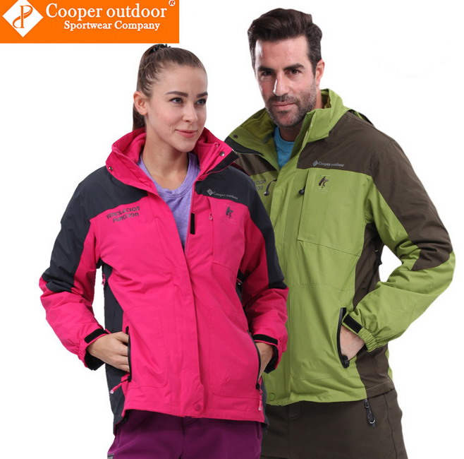 Fashion Outdoor Couples Shape Ski-wear Two-piece Waterproof Breathable Softshell Jacket  Mountaineering Climbing Jacket Coat<br><br>Aliexpress