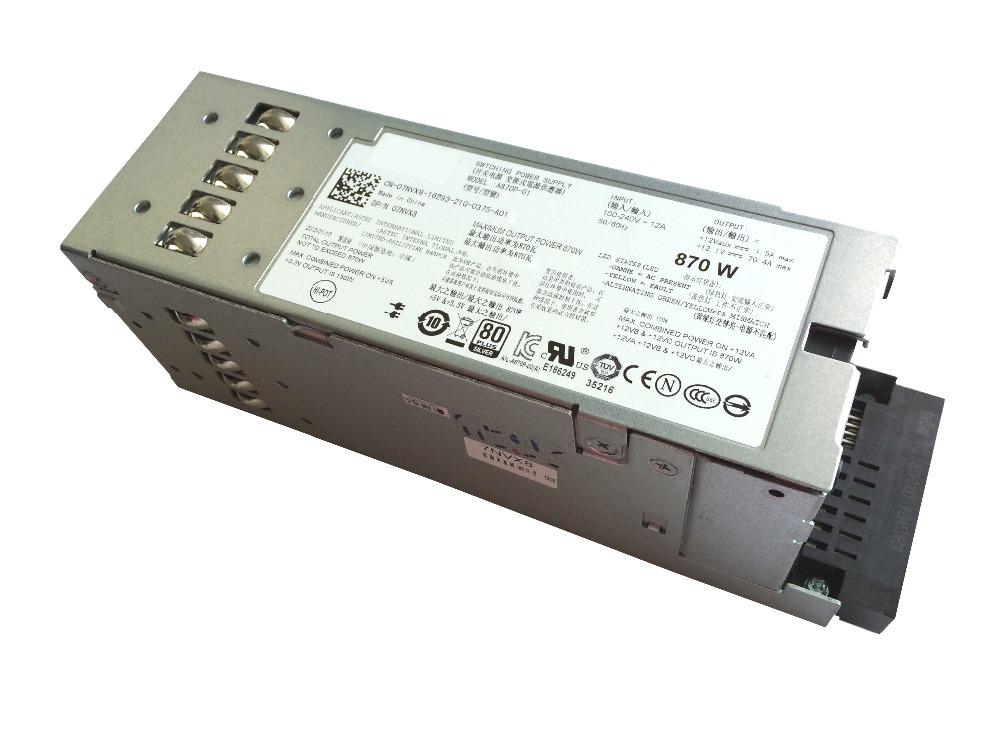 Best Quality PSU For Dell PowerEdge T610 R710 Redundant Power Supply 870W 7NVX8 07NVX8 YFG1C D263K(China (Mainland))