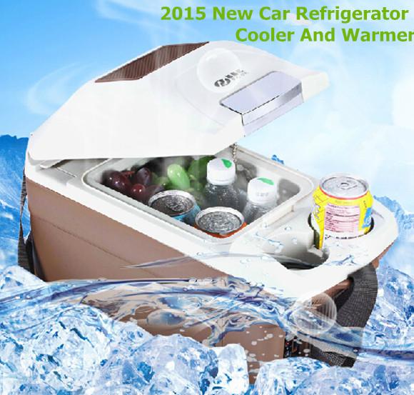 2015 New Portable Car Refrigerator 12V Cooler Warmer Box Car Fridge Freezer Travel Mini Refrigerator For Car(China (Mainland))