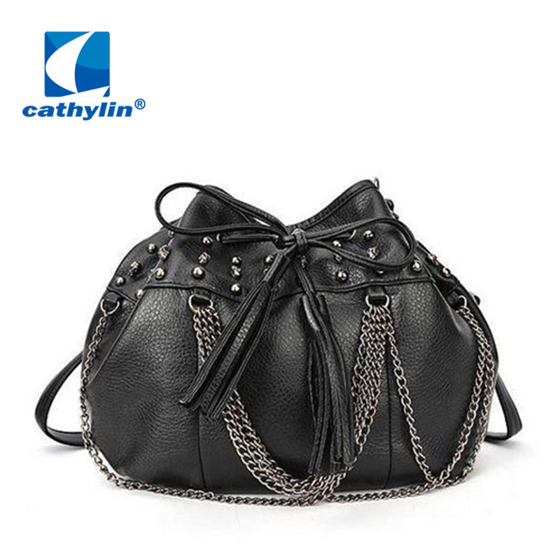 Cathylin 2016 sale limited silt pocket single women designer handbags color studs bag chain - Classic store