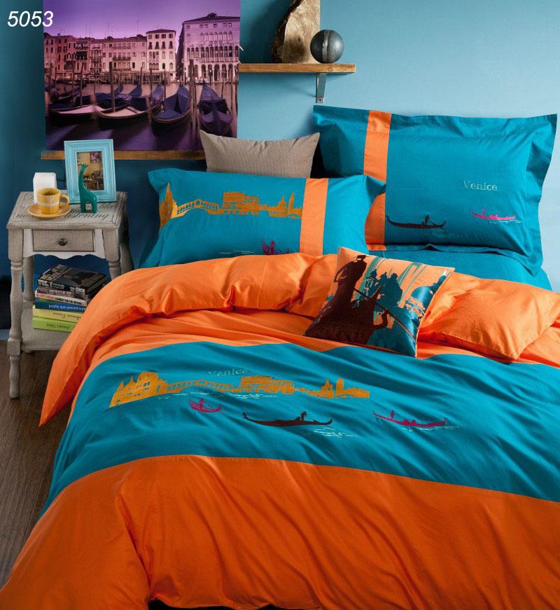 Popular orange blue bedding buy cheap orange blue bedding - Orange and blue comforter ...