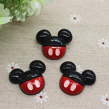 Buy 10PCS Kawaii Resin Mickey Flatback Cabochon Embellishment Accessories DIY Scrapbooking Craft Making,26*30mm for $2.19 in AliExpress store