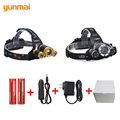 Newest Zoom 8000lm XML T6 Torch Head Headlights Headlamps Rechargeable Headlamp for Fishing 18650 Battery Car