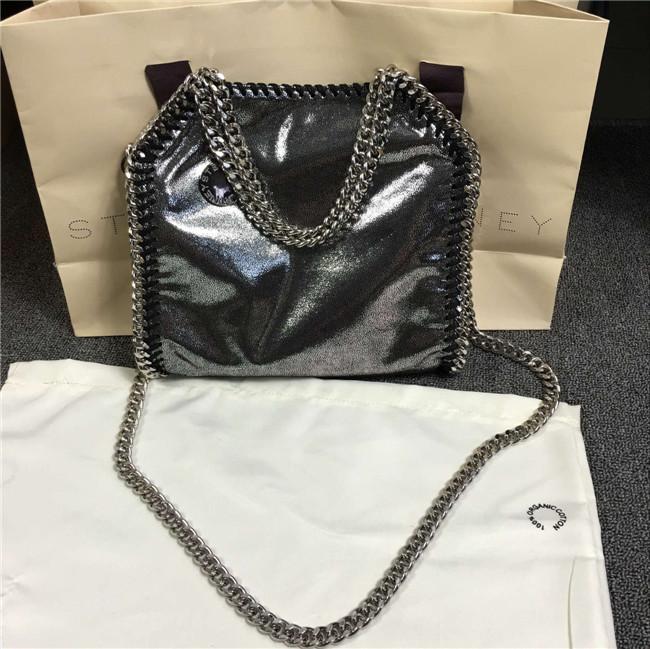 2016 stella high quality shaggy bag pvc designer silver handbag mini 3 chains crossbody fold over tote shoulder bag with logo(China (Mainland))