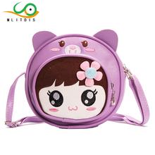 MLITDIS Baby Girl Bags Kids Bag Girls Crossbody Kindergarten School Bags For Girls Cute Cartoon School Bag Leather Messenger(China (Mainland))