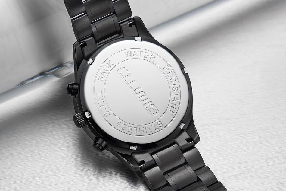 2016 GIMTO Лучший Бренд Из Нержавеющей Стали Мужские Спортивные Часы Мода Мальчики Водонепроницаемый Аналоговый Кварцевые Наручные Часы Relógio Masculino