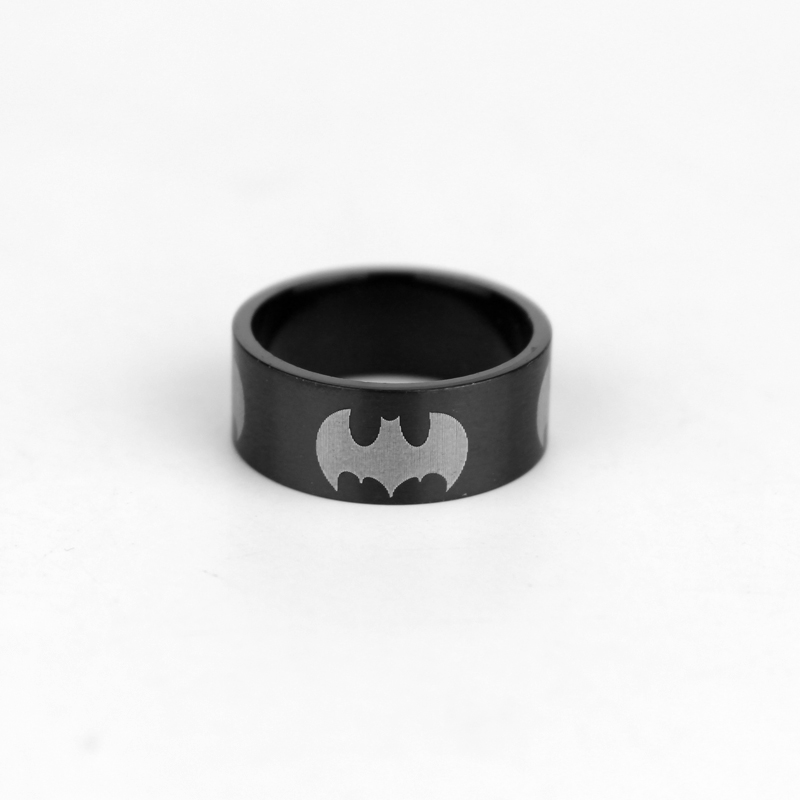 DC Comics BATMAN BAT SYMBOL Logo Stainless Steel BAND RING Men's Size 7-11(China (Mainland))