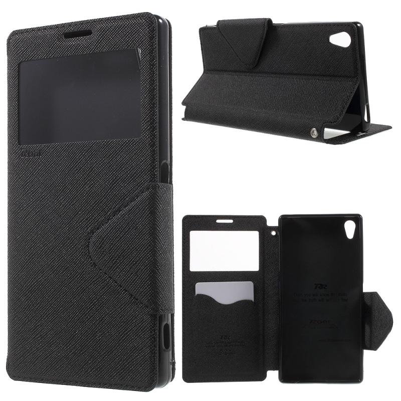 """Sony Xperia Z5 Premium (5.5inch) Case ROAR KOREA Diary View Window PU Leather Case Sony Xperia Z5 Premium Dual (5.5"""")"""
