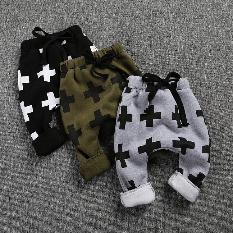 KS-670,2016 new winter baby trousers for boys cross star pants,<font><b>shalwar</b></font> <font><b>kameez</b></font> pants for girls boys baby pants kids boy clothes