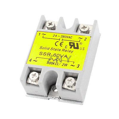 SSR-60VA 500K Ohm/2W Input AC24-380V Output 60VA Adjustable Solid State Relay