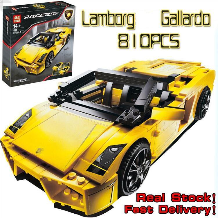 Yile 810pcs Technic Gallardo LP 560-4 car-styling Model Kits Building Blocks Bricks fun toys Compatible Decool 8611 Lepin 8169(China (Mainland))