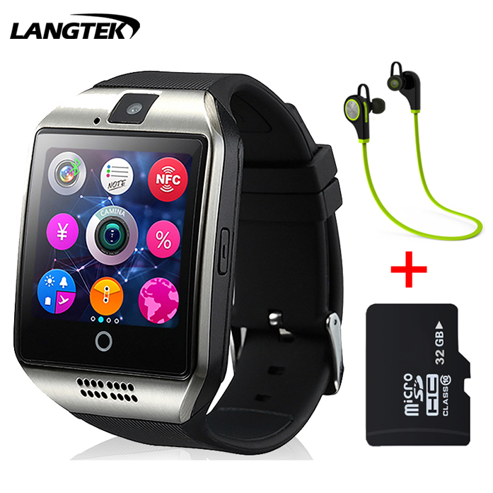 2017 Bluetooth Smart Watch Q18 Smartwatch Support NFC SIM Card GSM camera Support Android/IOS Smart Phone PK GT08 DZ09 U80(China (Mainland))
