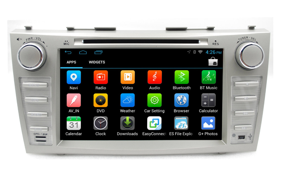 """Android pc 4.4 Quad Core Capacitive Touch Screen car dvd 3G player gps for Camry Bluetooth 8"""" 2din in dash support DVR OBD2 TPMS(China (Mainland))"""