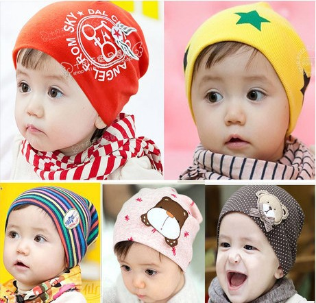 Baby beanies caps Kids Infant Hats Toddler 1 PCS/Lot Boys &Girls hat Skull Head Cap/1-3 Years old/20 Colors /ATL(China (Mainland))