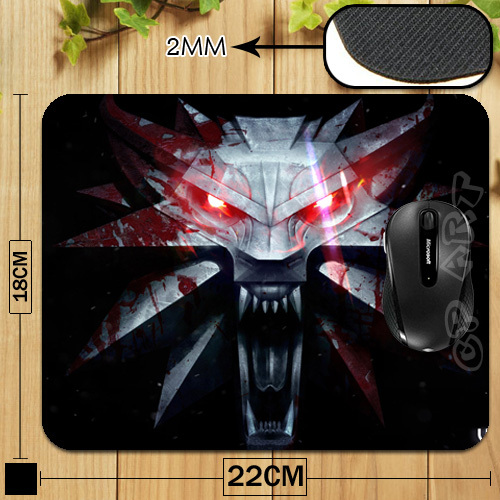 The Witcher 3 Wild Hunt Game Logo Professional Printing Mouse Pad for Computer Laptop Mousemat Free &Drop Shipping(China (Mainland))