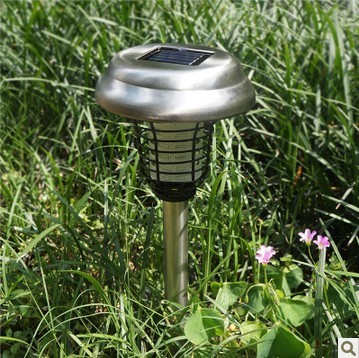 Can mosquito killing lamp lawn stainless steel 2D light trap and kill mosquitoes garden plug