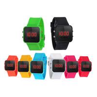 2016, 10 цветов дети смотреть унисекс led экран цифровой силиконовые ремень девушка мальчик relogio кварцевые спортивные детские наручные часы
