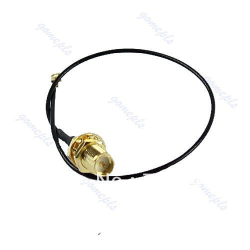 M89 Free Shipping U.FL Mini PCI to RP-SMA Antenna WiFi Cable Signal Connector Network Adapter(China (Mainland))