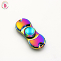 Fun tri coloured pattern hand spinner Tri Spinner Fidget spinner toy Colorful metal EDC Hand Spinner