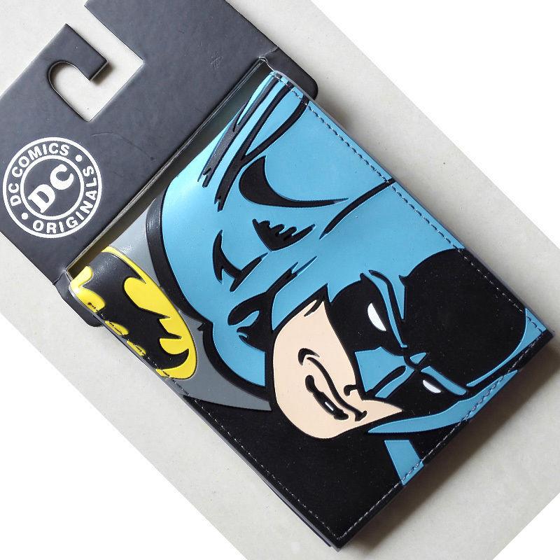 """Гаджет  DC Comics Batman Head portrait wallets Purse Blue 3.5"""" Plastic Leather hot None Камера и Сумки"""