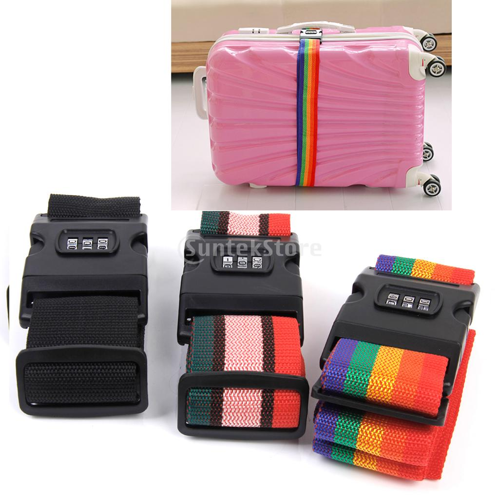 New Arrivals 2015  Adjustable Luggage Suitcase Strap Baggage Belt Tie Down Travel Combination Secure Lock-Black Free Shipping<br><br>Aliexpress