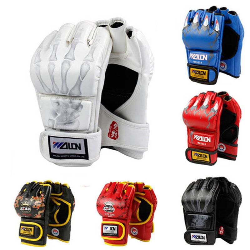 MMA Muay Thai Kick Boxing Gloves Half Fighting Boxing Gloves Competition Training Gloves guantes de boxeo(China (Mainland))