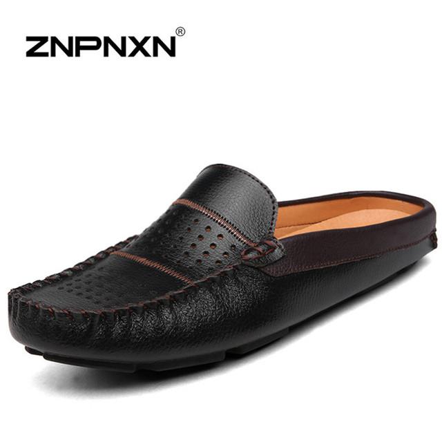 Znpnxn 2016 мужчин бездельников из натуральной кожи мужчины квартиры мокасины обувь ...