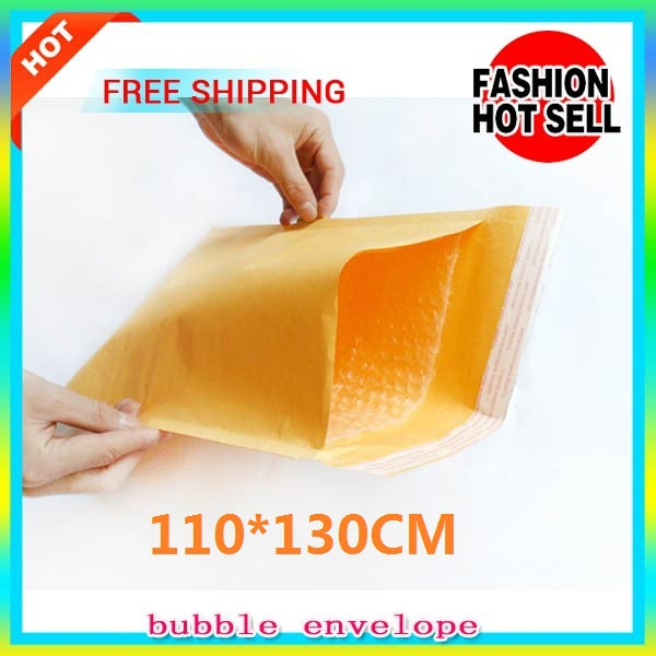 20pcs,Shockproof film Yellow Bubble Envelope Wrap Bag Pouches Packaging PE Bags 110*130mm Kraft Bubble Mailers Pad Transport(China (Mainland))