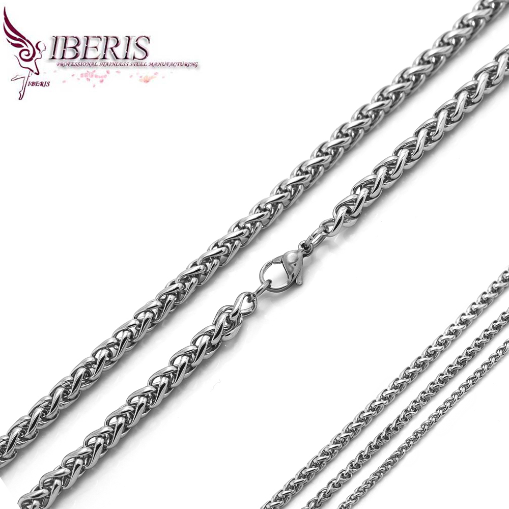 male chain hot selling silver chain for men free shipping stainless steel chain necklace for men(China (Mainland))
