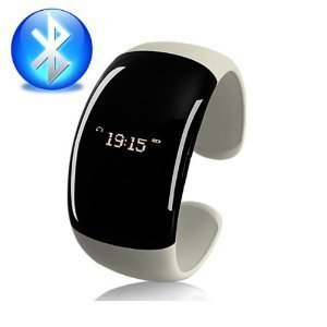 Mobile Phone Bluetooth Fashion Bracelet with Speaker Microphone Time Caller ID Display Vibration