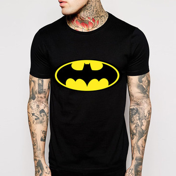 Batman Cartoon T-Shirts for Men with O-Neck and Short Sleeves