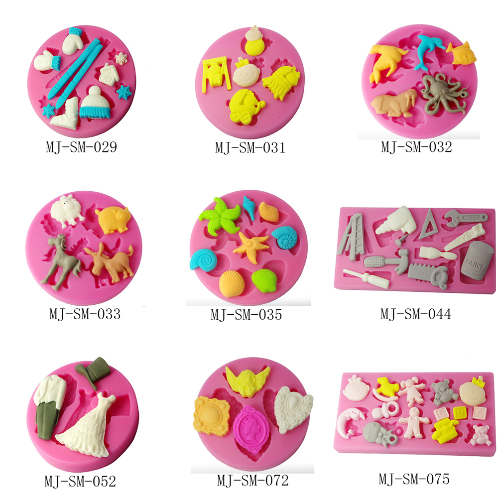 New fondant cake silicone mold,multi-shaped cupcake dessert biscuit mould,embossing pastry mold 3d cake mold free shipping(China (Mainland))