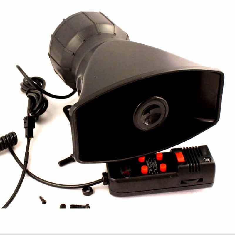 12V Universal 100W Car 5 Tone Electronic Warning Siren Alarm Police Firemen Ambulance Loudspeaker with MIC(China (Mainland))