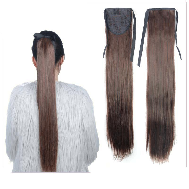 synthetic long straight ponytail hair wigs,aplique de cabelo synthetic drawstring clip in ponytail Pony Tail peruca hair pieces<br><br>Aliexpress