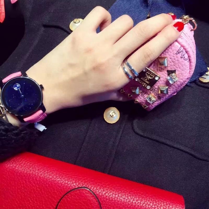 Новые приходят! полный Кристалл Женщины Кожа Так Здорово Горный Хрусталь Кварц Браслет Наручные Часы Девушки Леди Браслет Часы relojes